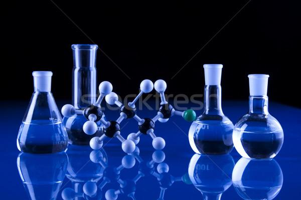 Laboratuvar züccaciye tıbbi laboratuvar kimyasal sıvı Stok fotoğraf © BrunoWeltmann