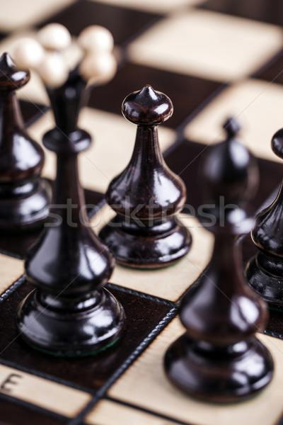 Schachfiguren Wettbewerb Business Sport Erfolg Stock foto © BrunoWeltmann