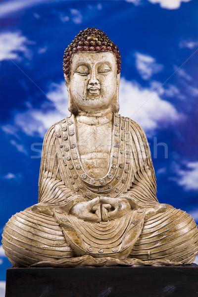 Portré Buddha közelkép stúdiófelvétel szépség füst Stock fotó © BrunoWeltmann