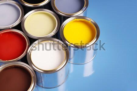 Paint cans Stock photo © BrunoWeltmann