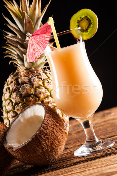 Exotic drinks on black Stock photo © BrunoWeltmann