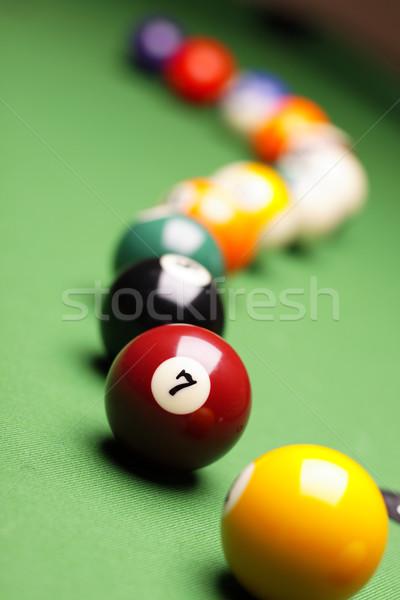 бильярдных зеленый таблице спорт фон клуба Сток-фото © BrunoWeltmann