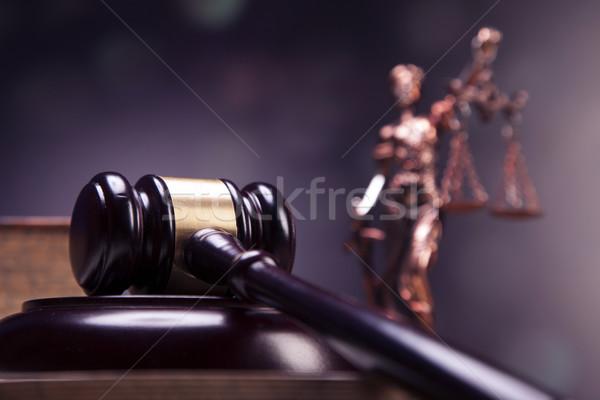 Mallet of justice! Stock photo © BrunoWeltmann
