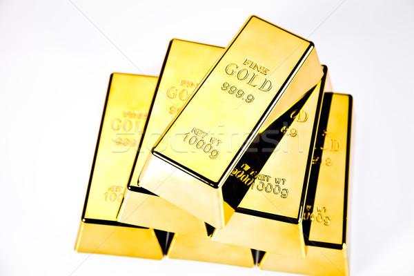 Stockfoto: Goud · bars · grafieken · statistiek · geld · metaal