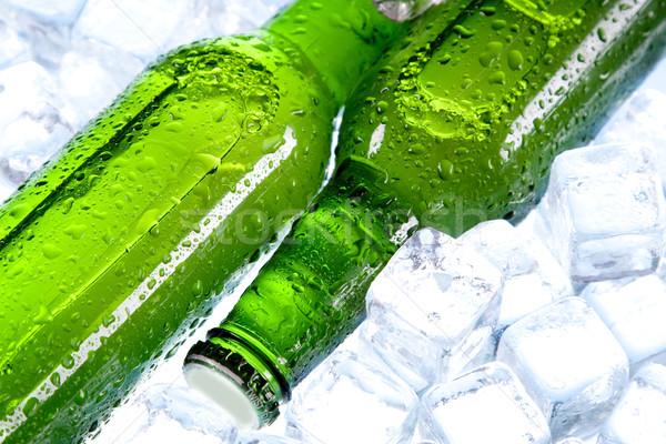 Stock fotó: Hideg · sör · jég · üveg · buborékok · alkohol