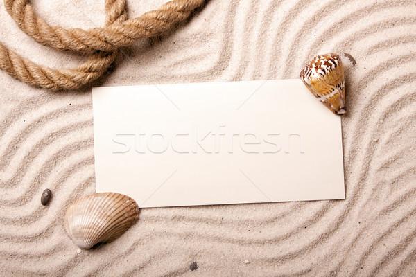 Say hello! Beach and message concept Stock photo © BrunoWeltmann