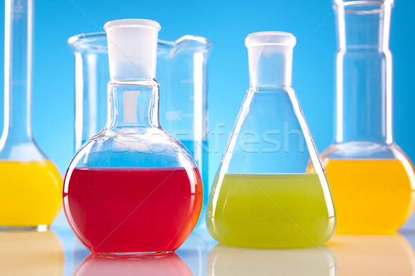 Colorful fluids in laboratory Stock photo © BrunoWeltmann