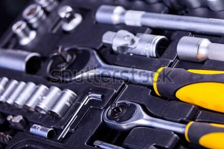 Alapvető szerszámok mindenki kulcsok modell fém Stock fotó © BrunoWeltmann