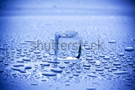 Mavi buz tuğla temizlemek serin Stok fotoğraf © BrunoWeltmann