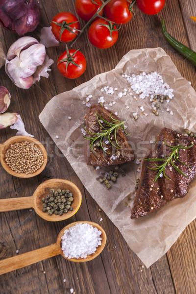 отлично жареный говядины служивший овощей специи Сток-фото © BrunoWeltmann