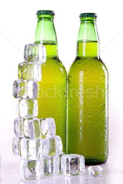 Bier witte partij licht bar goud Stockfoto © BrunoWeltmann