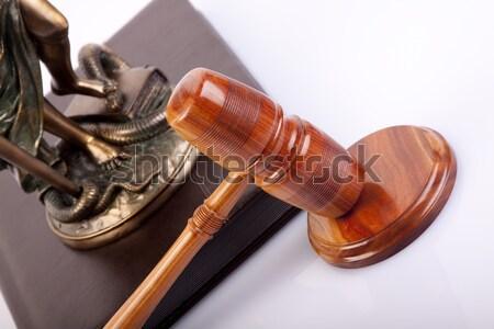 старые прав судья преступление правовой молоток Сток-фото © BrunoWeltmann