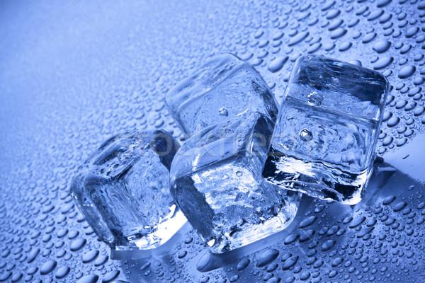 синий льда кирпичных чистой Cool Сток-фото © BrunoWeltmann