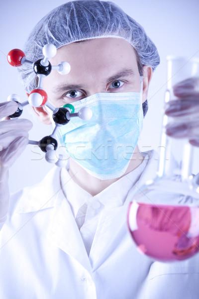 Cientista sorrir cara médico médico tecnologia Foto stock © BrunoWeltmann