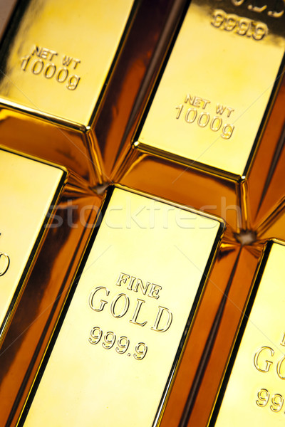 Goud bars foto business Stockfoto © BrunoWeltmann