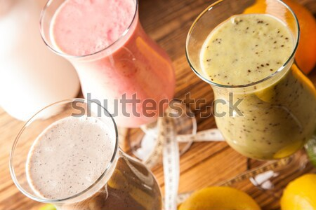 Alimentation saine protéines fruits sport fitness fruits Photo stock © BrunoWeltmann