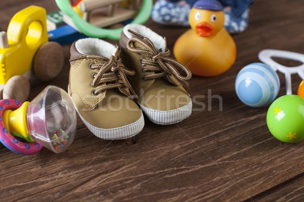 世界 おもちゃ 木製 赤ちゃん 教育 ストックフォト © BrunoWeltmann