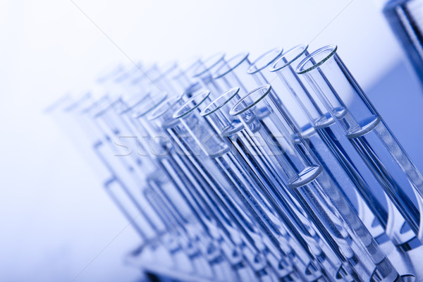 Laboratory Glassware, flasks and test tubes Stock photo © BrunoWeltmann
