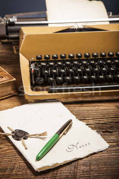 old typewriter, a pile of books and a lot of creativity Stock photo © BrunoWeltmann