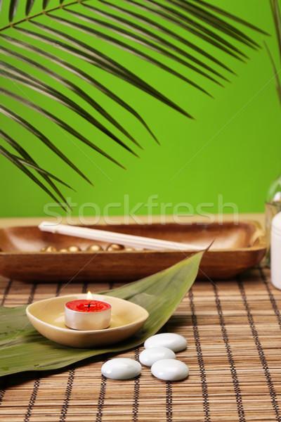 Spa schoonheid aroma olieverf natuur groene Stockfoto © BrunoWeltmann