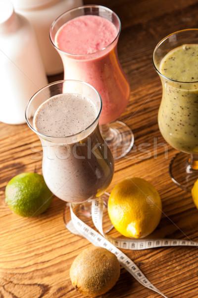 Egészséges étrend fehérje gyümölcsök sport fitnessz gyümölcs Stock fotó © BrunoWeltmann
