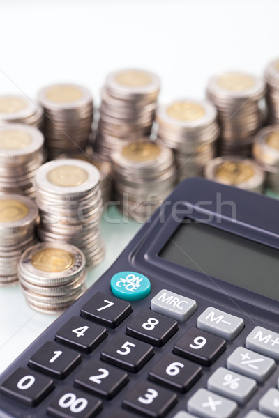 Inkomen geld calculator witte business Stockfoto © BrunoWeltmann
