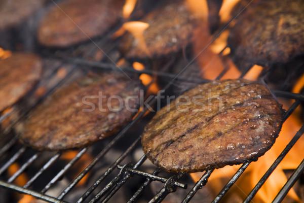 Сток-фото: гриль · время · барбекю · саду · продовольствие · вечеринка