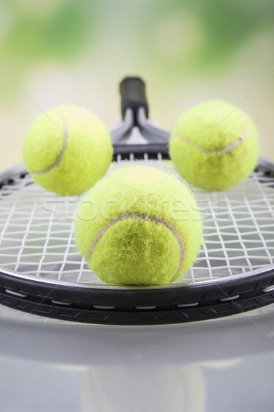 Set racchetta da tennis palla tennis studio Foto d'archivio © BrunoWeltmann