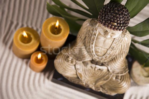 Stock fotó: Portré · Buddha · közelkép · stúdiófelvétel · szépség · füst