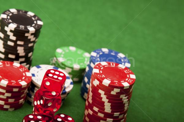 カジノ お金 デザイン スペース 緑 青 ストックフォト © BrunoWeltmann