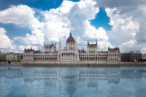 Budapest vue parlement Hongrie architecture gothique Photo stock © BrunoWeltmann