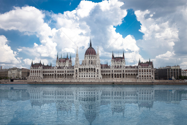 Budapeşte görmek parlamento Macaristan mimari Gotik Stok fotoğraf © BrunoWeltmann
