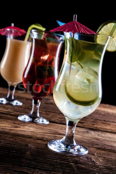 Fresh tasty drinks Stock photo © BrunoWeltmann
