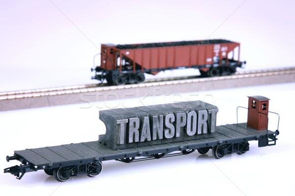 Train modèles transport monde espace groupe Photo stock © BrunoWeltmann