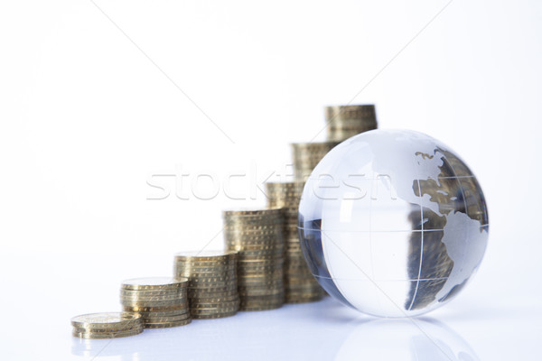 Financeiro mundo dinheiro isolado branco negócio Foto stock © BrunoWeltmann