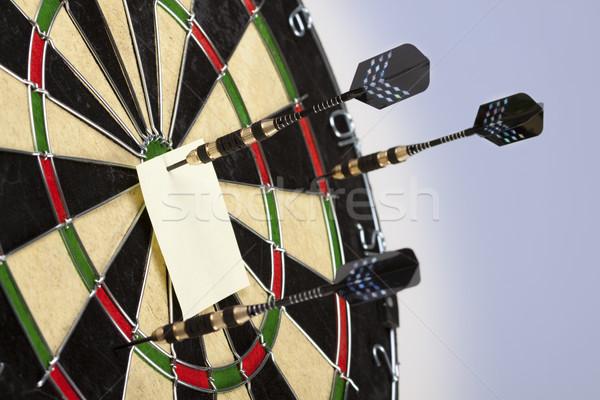 Darts játék telitalálat munka állás nyíl Stock fotó © BrunoWeltmann