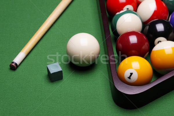 Játék medence zöld asztal jókedv Stock fotó © BrunoWeltmann