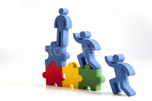 チームワーク 人 アイコン 抽象的な 男性 グループ ストックフォト © BrunoWeltmann