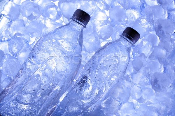 Stok fotoğraf: Soğuk · bira · buz · altın · kabarcıklar · alkol