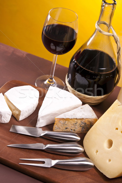 Cheese and wine composition Stock photo © BrunoWeltmann