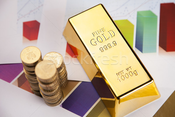 Gold bars on charts! Stock photo © BrunoWeltmann
