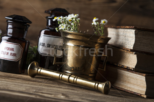 The ancient natural medicine, herbs and medicines Stock photo © BrunoWeltmann