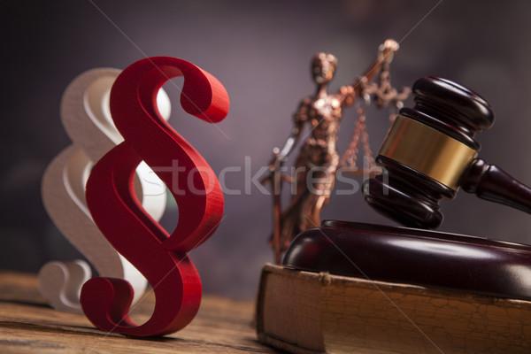 Igazság törvény súly mérleg jogi kód Stock fotó © BrunoWeltmann