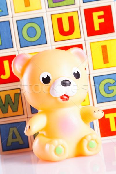 赤ちゃんのおもちゃ クローズアップ 表 背景 楽しい 少年 ストックフォト © BrunoWeltmann