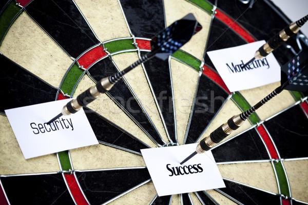 Darts játék telitalálat üzlet munka állás Stock fotó © BrunoWeltmann