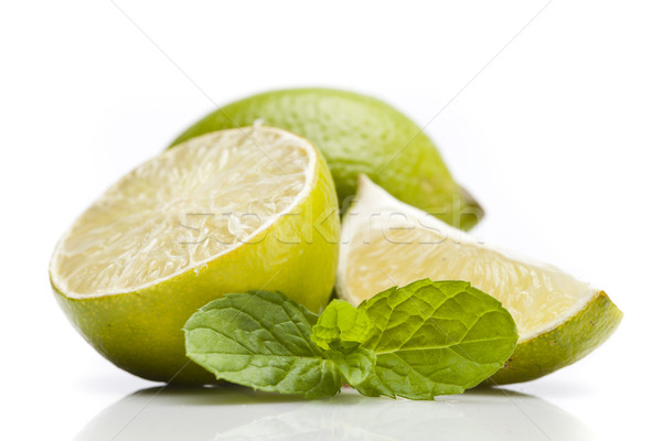 Lemons closeup Stock photo © BrunoWeltmann