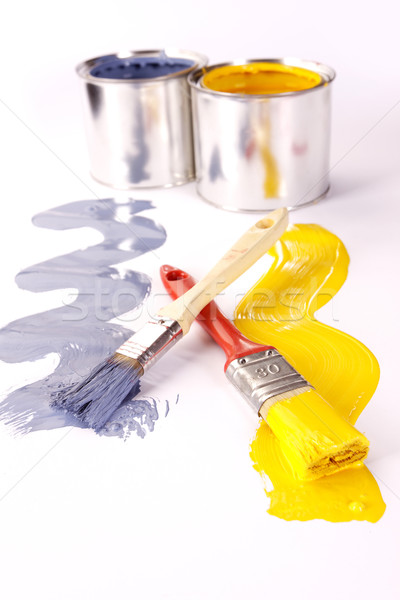 Paints, and paint cans! Stock photo © BrunoWeltmann