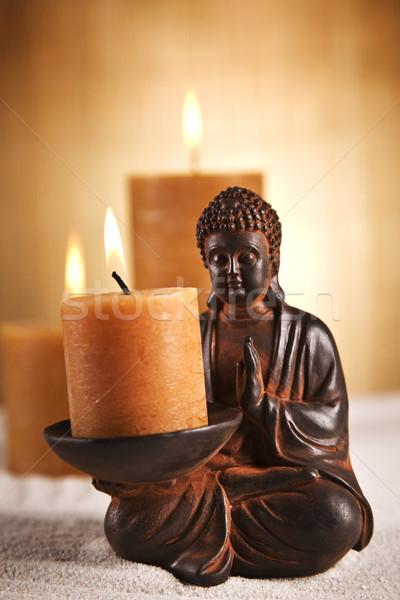 портрет Будду красоту дым Сток-фото © BrunoWeltmann