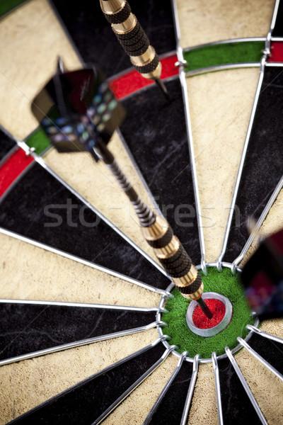 Darts játék telitalálat munka fekete állás Stock fotó © BrunoWeltmann