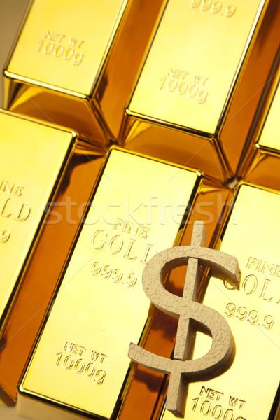 Stok fotoğraf: Altın · çubuklar · fotoğraf · Metal